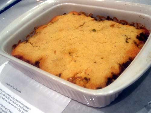 Grandma's Corn Bread Pie