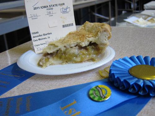 !st Prize Rhubarb Pie