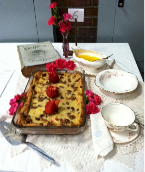 Second place: Bread pudding
