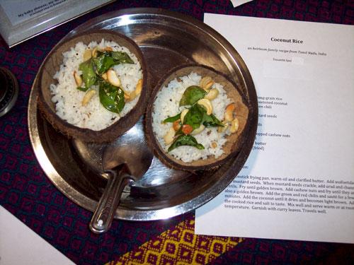 Coconut rice (image by Wanda Bain)
