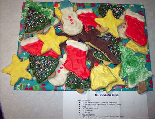 Christmas Cookies Image Wanda Bain