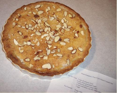 Glazed custard tart - image Wanda Bain
