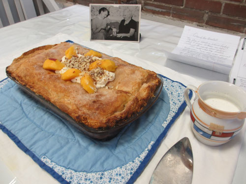 Peach cobbler (image by Catherine Lambrecht)