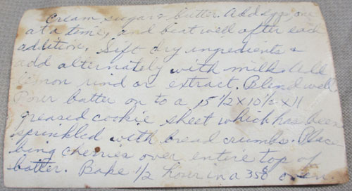 handwriten recipe