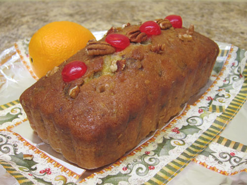Orange cake cherries pecans loaf bread Indiana state fair 2013
