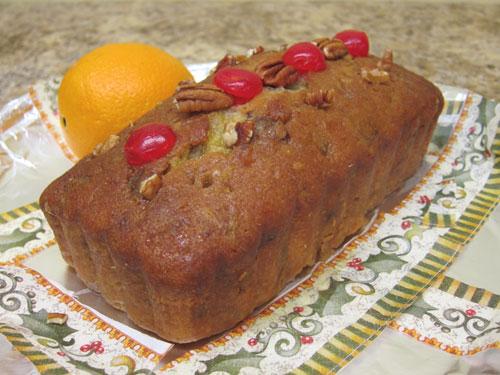 orange cake pecans cherries bread christmas holiday plate Peter Engler