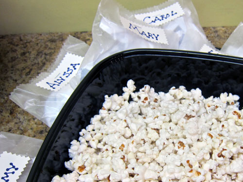 Popcorn homemade wax paper bags black bowl peter engler
