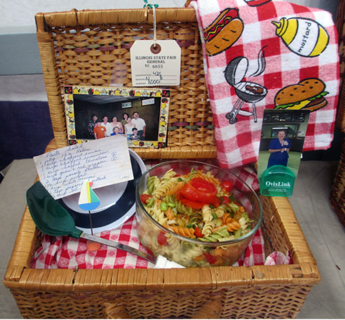 pasta salad picnic basket towel illinois state fair greater midwest foodways alliance