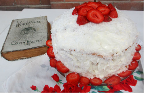 Coconut Cake White House Cook book Missouri State Fair Midwest Foodways