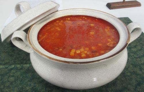 corn chowder soup terrine midwest foodways missouri state fair