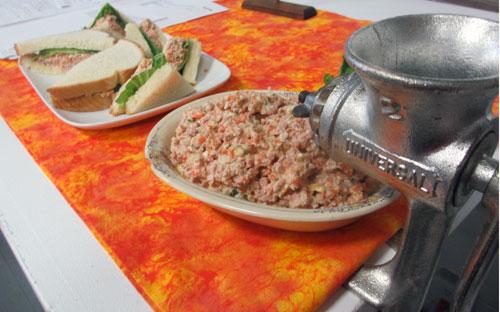 ham bologna salad funeral spread missouri state fair midwest foodways sandwiches grinder