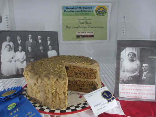 Mincemeat cake first prize Wisconsin State Fair