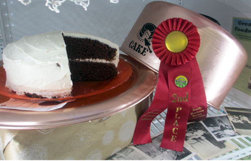 2nd prize Wisconsin State Fair Chocolate Cake Greater Midwest Foodways