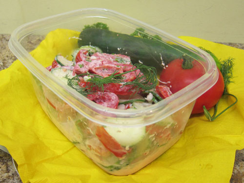 German cucumber tomato salad 2015 Indiana state fair greater midwest foodways