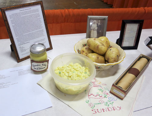 potatoes salad dressing wedding picture