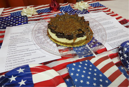 Cheesecake American flag turtle