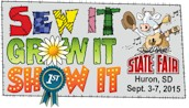 South Dakota State Fair logo 2015 sew grow show
