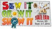 South Dakota State Fair logo 2015 sew grow show