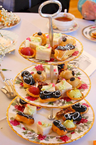 Louisa Chu Tea by Gerri Greater Midwest Foodways English High Low Tea Petit fours