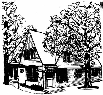 Colony House Trevor Wisconsin Line Drawing
