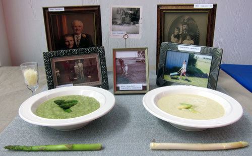 White Green Asparagus soup first place Illinois State Fair framed photos