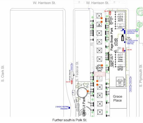printers row fair location map